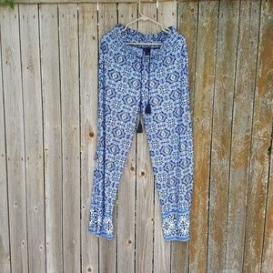 NEW DIRECTIONS WIDE LEG BLUE PANTS